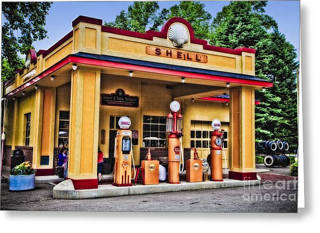 Shell Station Greeting Card