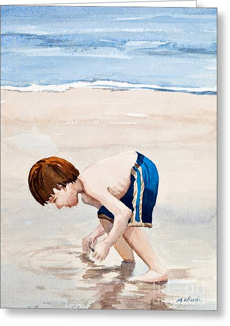 Shelling On The Cape Watercolor Greeting Card