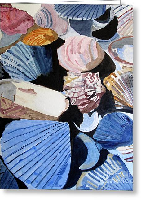 Shells At The Seashore Greeting Card