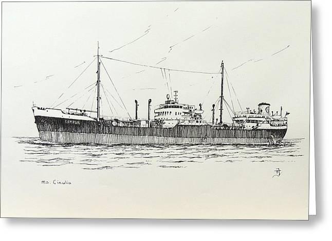 Shelltanker Cinulia Greeting Card