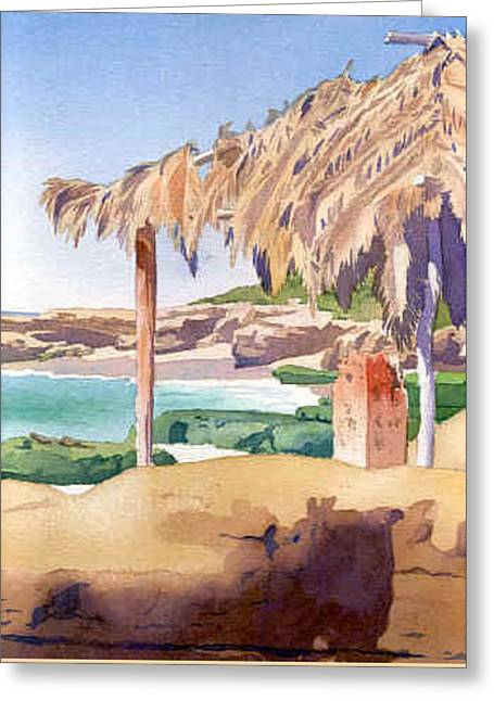 Shelter At Wind 'n Sea Beach Lj Greeting Card