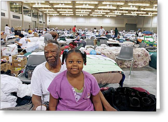 Shelter For Hurricane Katrina Survivors Greeting Card