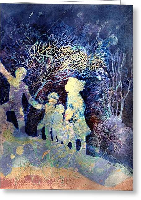 Shelter From The Storm Greeting Card by Marilyn Jacobson