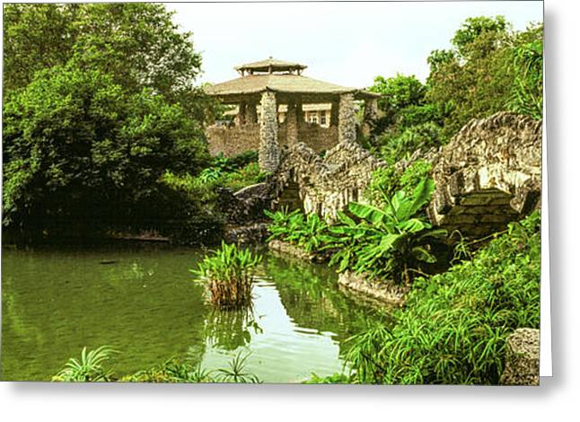 Shelter In Japanese Tea Garden, San Greeting Card by Panoramic Images