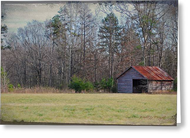 Shelter In The Midle Of Nowhere Greeting Card by Paulette B Wright