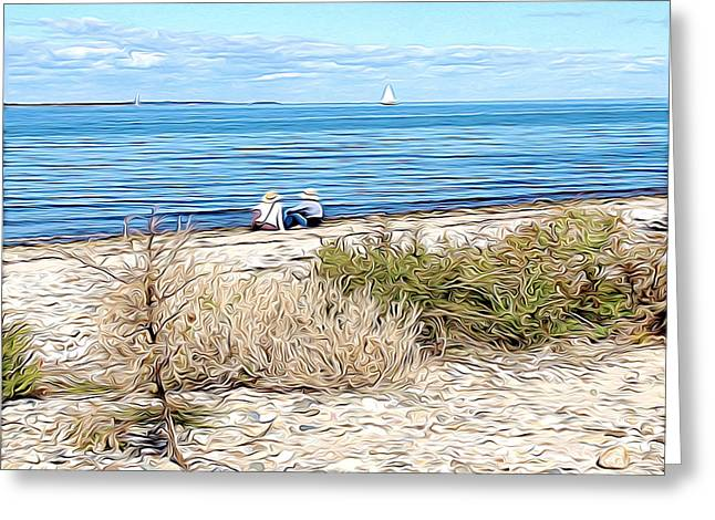 Shelter Island Beach Greeting Card