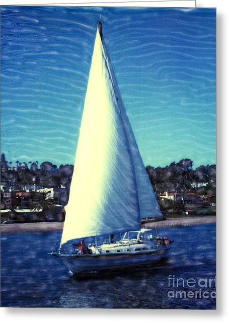 Shelter Island Sailing Greeting Card