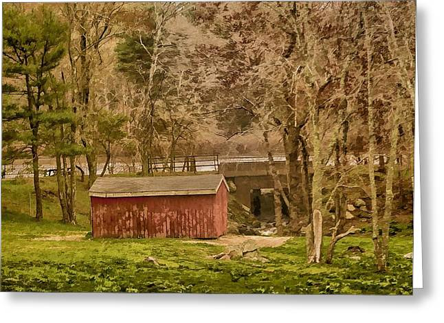 Shelter Photo Art Greeting Card by Constantine Gregory