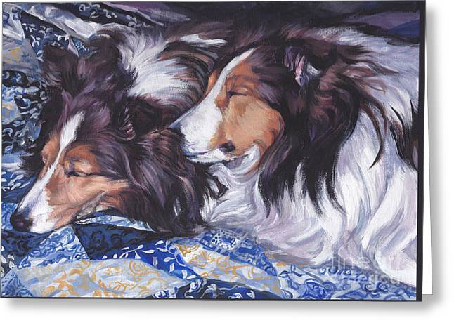 Sheltie Love Greeting Card by Lee Ann Shepard