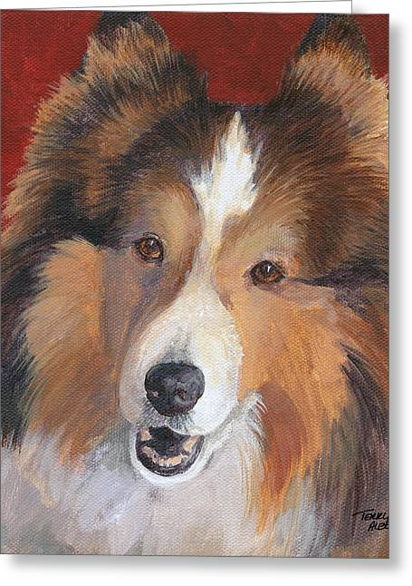 Sheltie Greeting Card