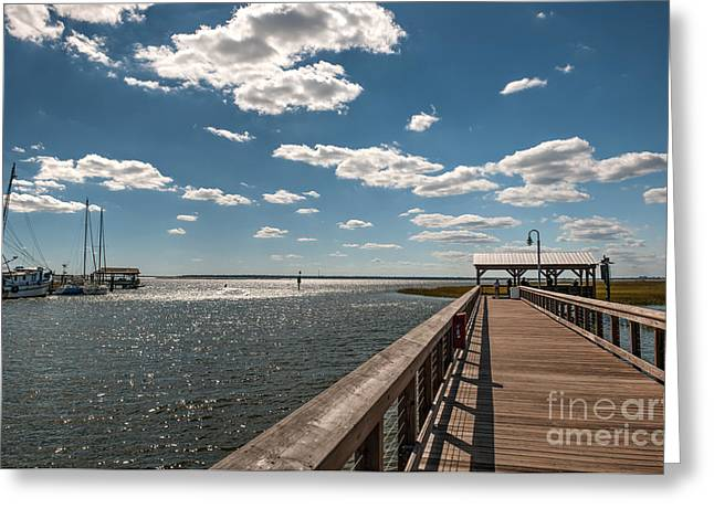 Shem Creek Pavilion  Greeting Card