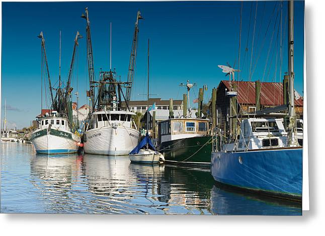 Shem Creek Trawlers Greeting Card