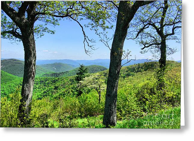 Shenandoah Mountain Ridge Greeting Card
