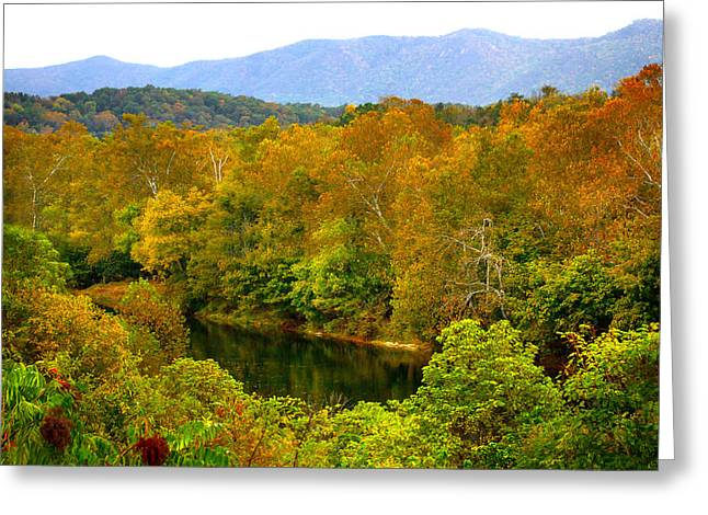 Shenandoah River Greeting Card by Mark Andrew Thomas