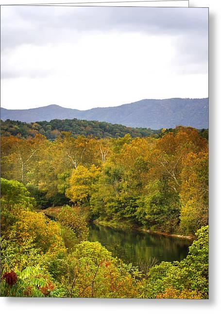 Shenandoah River Run Greeting Card by Mark Andrew Thomas