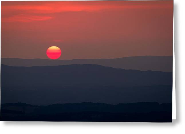 Shenandoah Sunset Greeting Card by David Cote