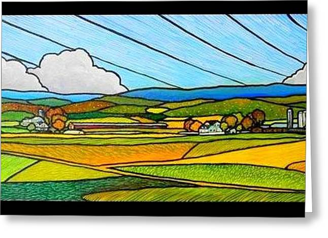 Shenmont Farm Greeting Card by Jim Harris