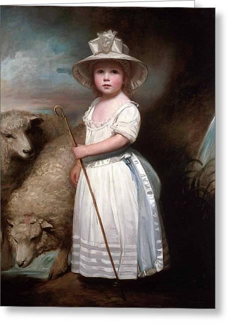 Shepherd Girl. Little Bo-peep Greeting Card