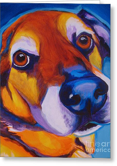 Shepherd Mix - Dundas Greeting Card by Alicia VanNoy Call