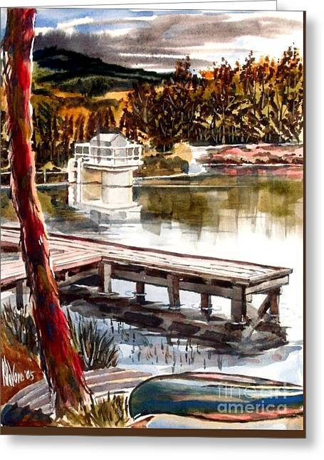 Shepherd Mountain Lake Bright Greeting Card by Kip DeVore
