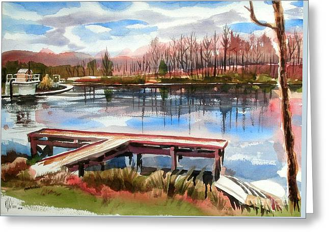 Shepherd Mountain Lake In Winter Greeting Card