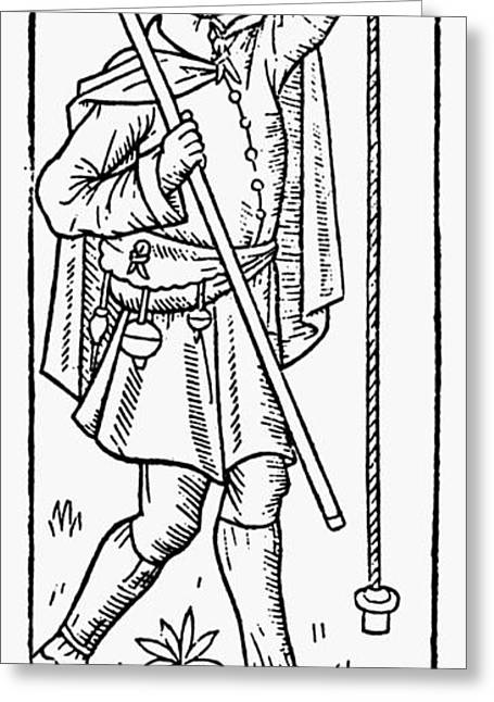 Shepherd With Plumb Line Greeting Card