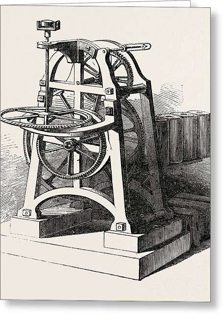 Shepherds Electric Clock For The Crystal Palace Mechanism Greeting Card by English School