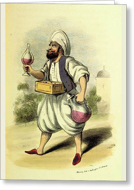 Sherbet Seller, Damascus And Palmyra Greeting Card by Litz Collection