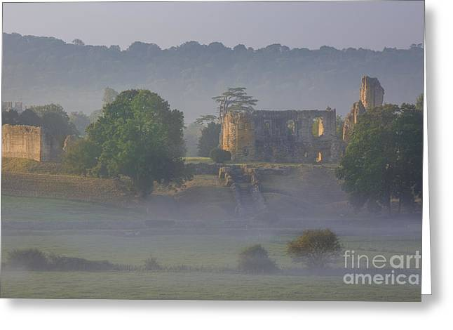 Sherborne Castle Dawn Greeting Card