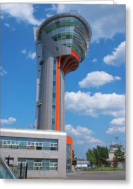 Sheremetyevo Control Tower Greeting Card by Mark Williamson