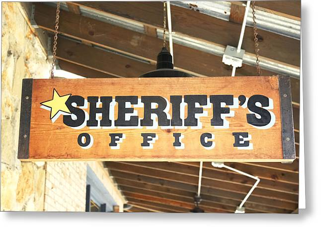 Sheriff's Office Greeting Card
