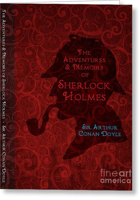 Sherlock Holmes Book Cover Poster Art 3 Greeting Card by Nishanth Gopinathan