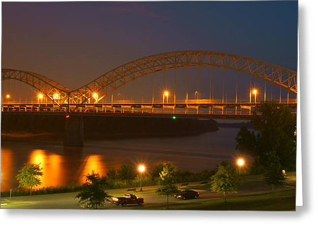 Sherman Minton Bridge - New Albany Greeting Card by Mike McGlothlen