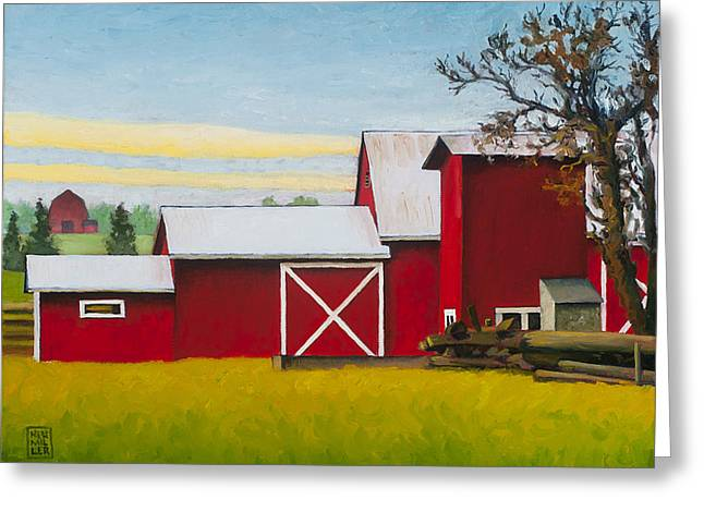 Sherman Squash Farm Greeting Card by Stacey Neumiller