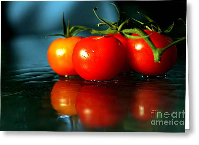 Sherry Tomatoes Greeting Card by Arie Arik Chen