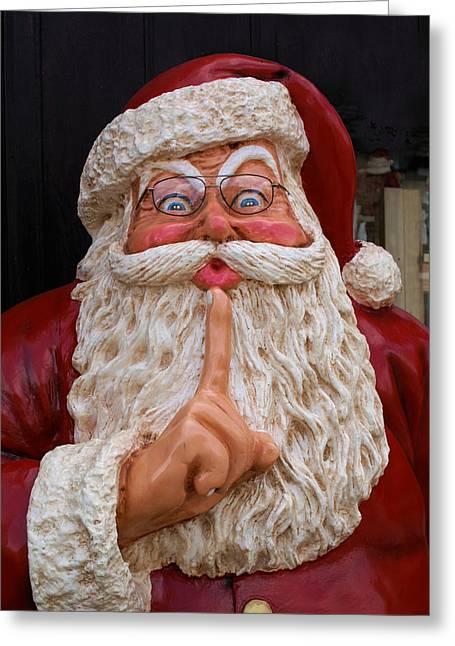 Shh Santa Greeting Card