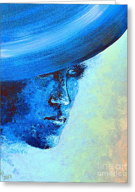 Shi Di Has The Blues Poster Greeting Card by Alys Caviness-Gober