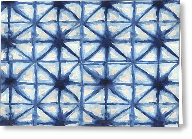Shibori Iv Greeting Card by Elizabeth Medley