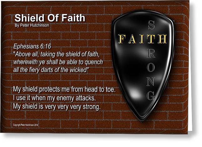 Shield Of Faith Greeting Card