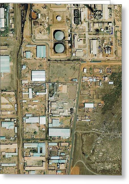 Shifa Pharmaceutical Plant Greeting Card by Geoeye/science Photo Library