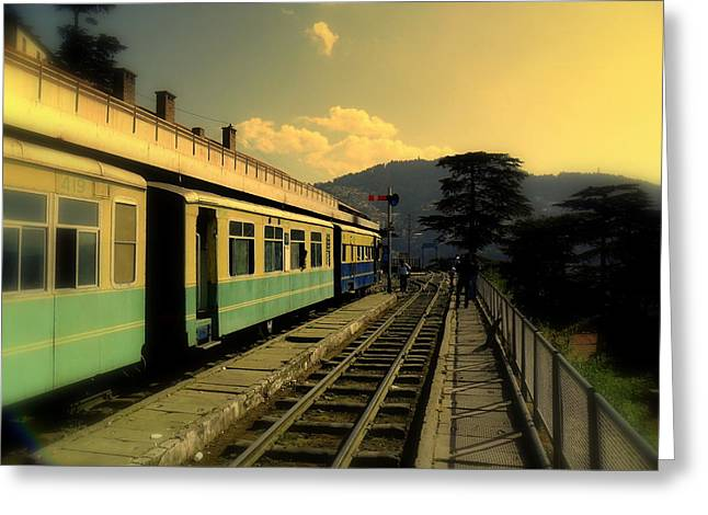 Shimla Railway Station Greeting Card