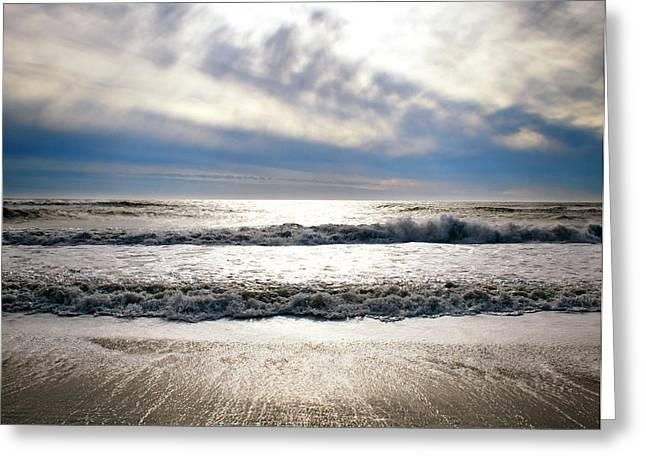 Shimmer Sky And Sea Greeting Card by Vicki Jauron