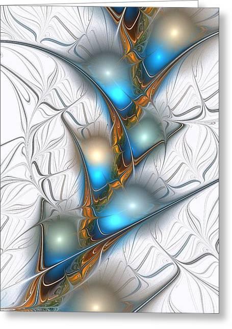 Shimmering Lights Greeting Card by Anastasiya Malakhova