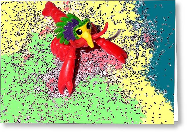 Greeting Card featuring the photograph Shimmering Lobster by Joseph Baril