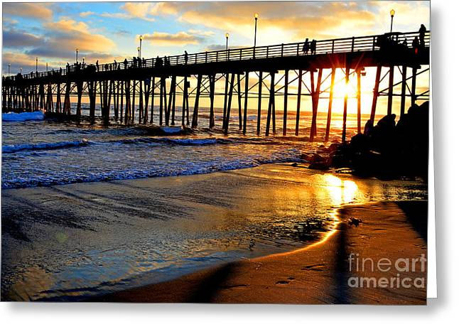 Shimmering Pier Greeting Card