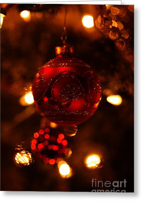 Greeting Card featuring the photograph Shimmering Reflection by Linda Shafer