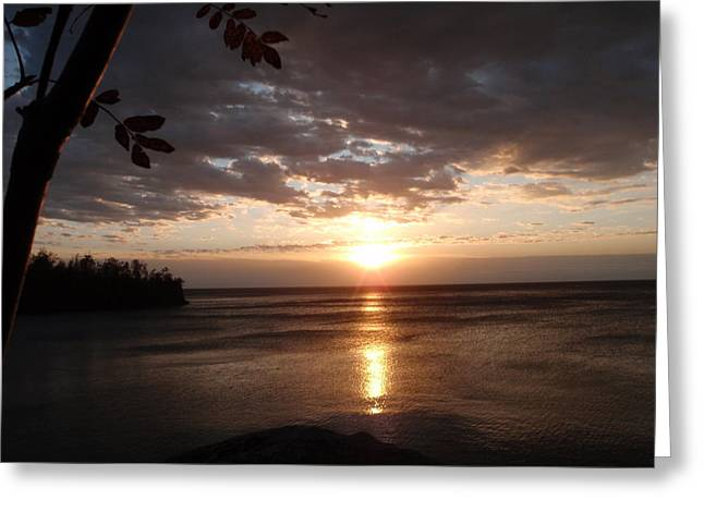 Greeting Card featuring the photograph Shimmering Sunrise by James Peterson