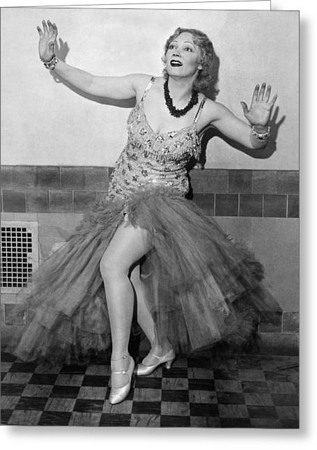 Shimmy Queen Gilda Gray Greeting Card by Underwood Archives