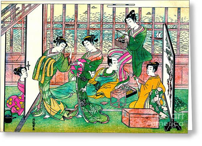 Shinagawa Brothel 1774 Greeting Card by Padre Art