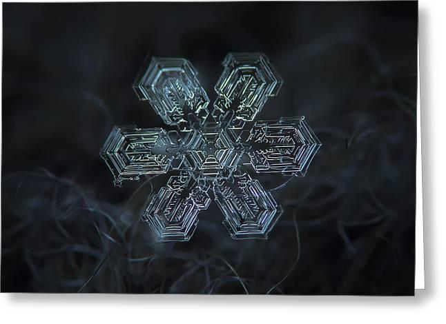Snowflake Photo - Shine Greeting Card
